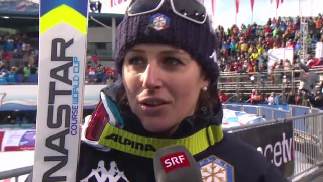 WM-Abfahrt: Interview Nadia Fanchini (italienisch)
