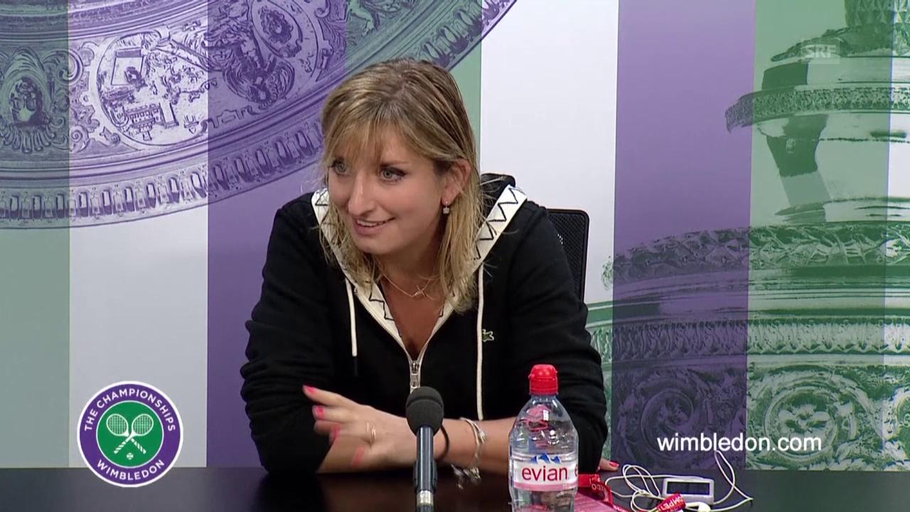 Tennis: Wimbledon, Interview Timea Bacsinszky