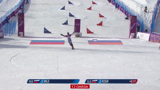 Video «Snowboard: Parallel-Slalom, Final der Männer (sotschi direkt, 22.02.2014)» abspielen