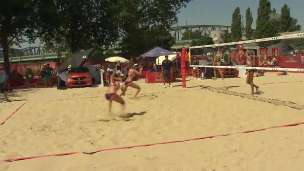 Video «Der Matchball bei Hüberli/Betschart» abspielen