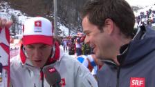 Video «Ski: Super-Kombination, Interview Janka (sotschi direkt, 14.02.14)» abspielen