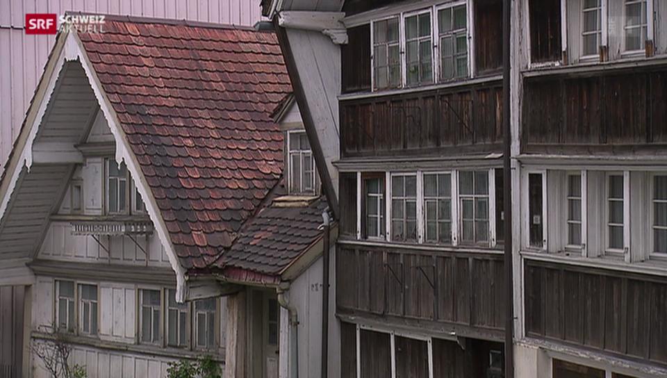 Verlotterte Häuser