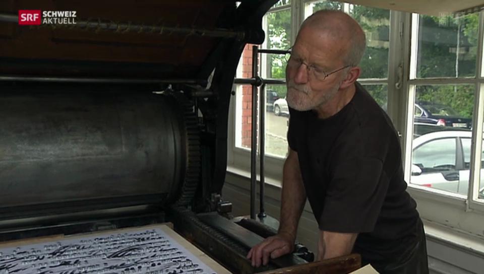 Eines des letzten Steindruckatelier schliesst