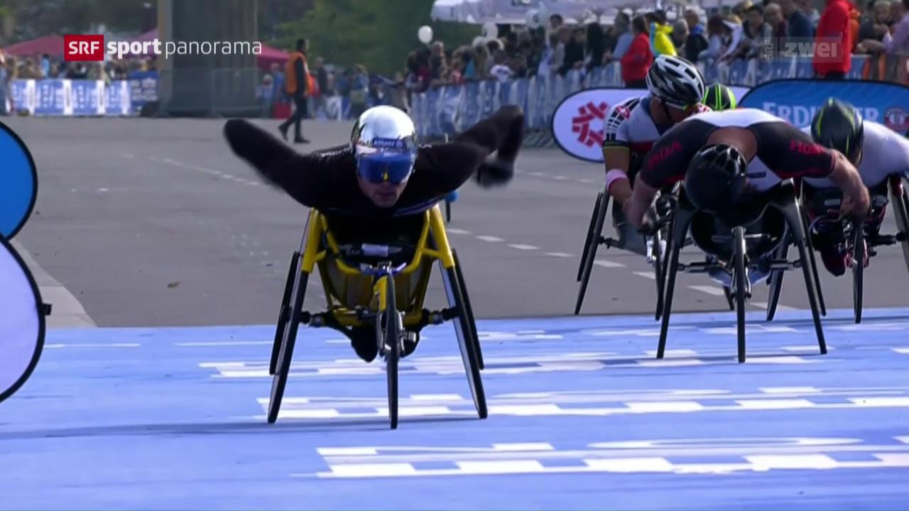 Kenianische und Schweizer Marathon-Siege