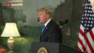 Video «Trump fordert neue Sanktionen, kündigt Atomdeal aber nicht» abspielen