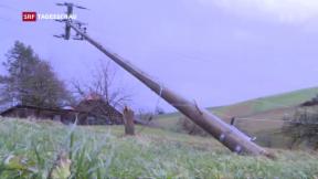 Video «Strom fällt wegen «Burglind» aus» abspielen