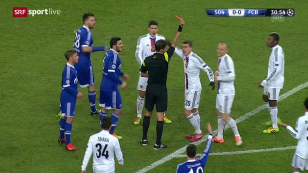 Video «Fussball: Cl, Schalke-Basel, rote Karte gegen Ivanov («sportlive», 11.12.2013)» abspielen