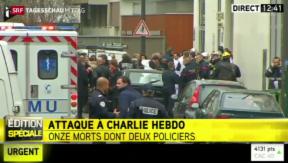 Video «Attentat auf Satirezeitung in Paris» abspielen
