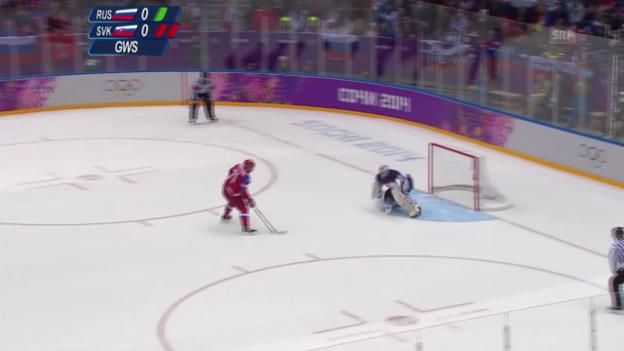 Video «Eishockey: Zusammenfassung Russland - Slowakei (16.02.2014)» abspielen