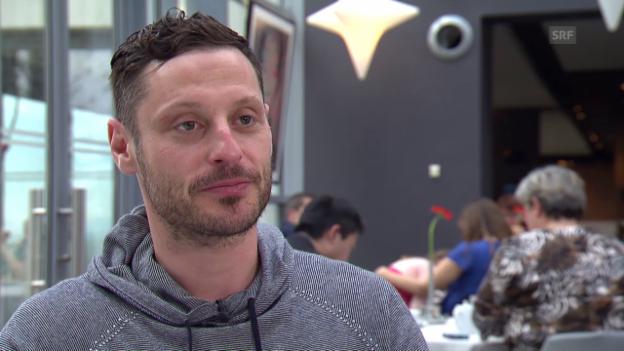 Video «Eishockey: Im Vorfeld der WM 2015 in Tschechien, Interview mit Mark Streit» abspielen