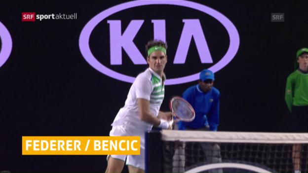 Video «Federer und Bencic spielen 2017 in Perth» abspielen