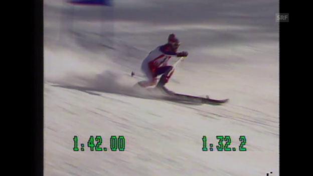 Video «Schweizer Doppelsieg im Olympia-Riesenslalom 1976» abspielen
