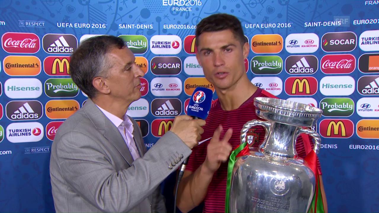 Ronaldo albert rum und widmet den Titel ganz Portugal