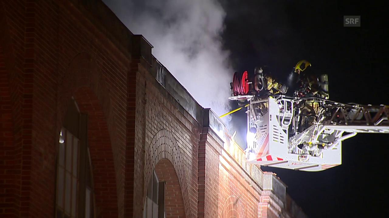 Feuerwehr bringt Brand auf Saurer-Areal unter Kontrolle