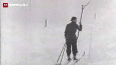Video «Der erste Skilift vom Bolgenhang in Davos.» abspielen