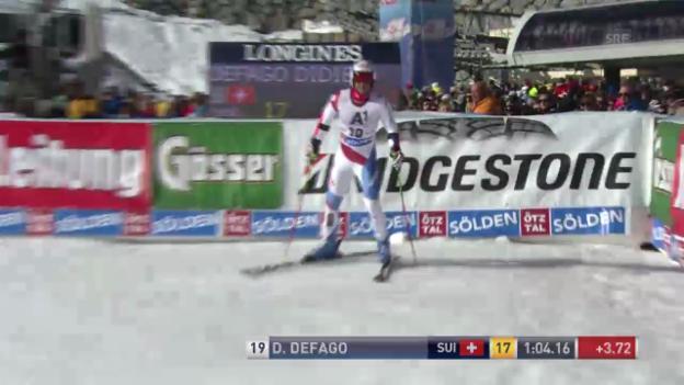 Video «Ski alpin: 1. Lauf von Didier Défago («sportlive»)» abspielen