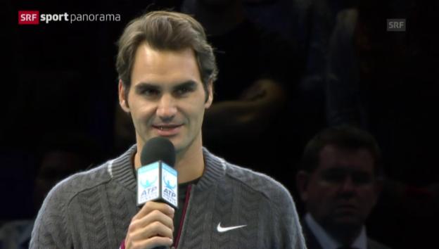 Video «Tennis: ATP Finals 2014, Federer muss Forfait erklären» abspielen