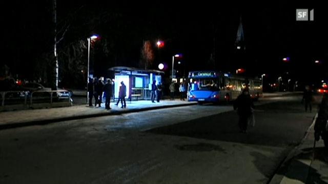 Lichttherapie an Bushaltestellen