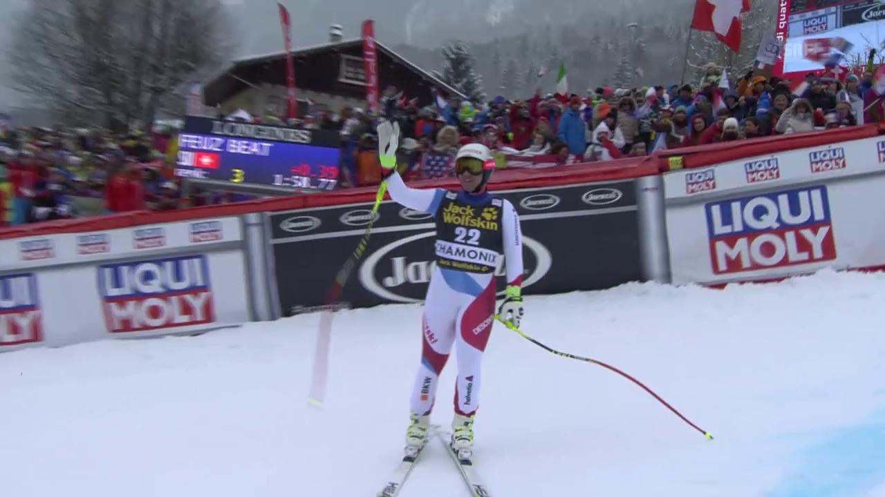 Beat Feuz rast in Chamonix aufs Podest