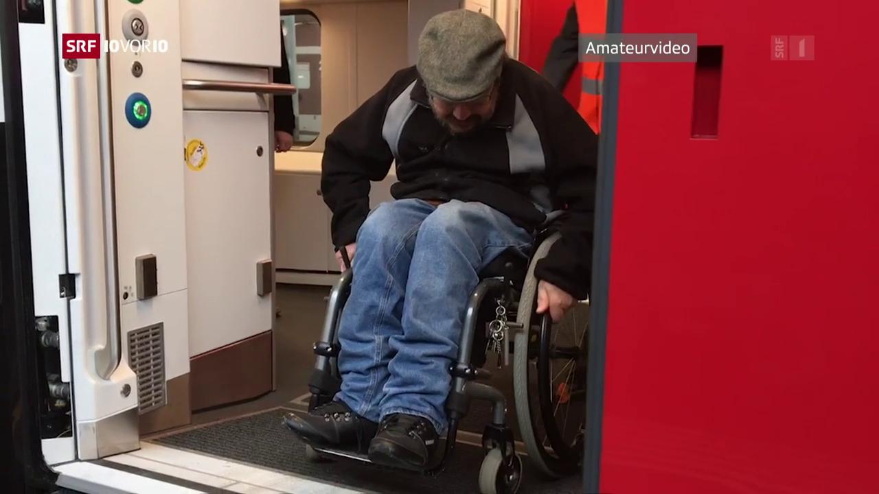 Rollstuhlfahrer in neuen SBB-Zügen behindert