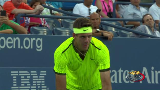 Video «Del Potros 1. Sieg an den US Open seit 2013» abspielen