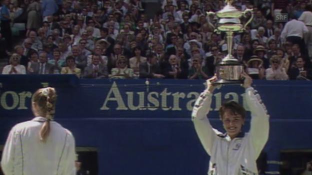 Video «Die Erfolge von Hingis an den Australian Open» abspielen