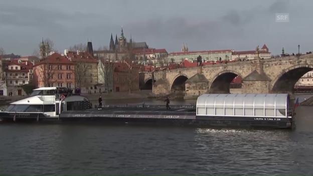 Video «Federer und Berdych auf der Moldau» abspielen
