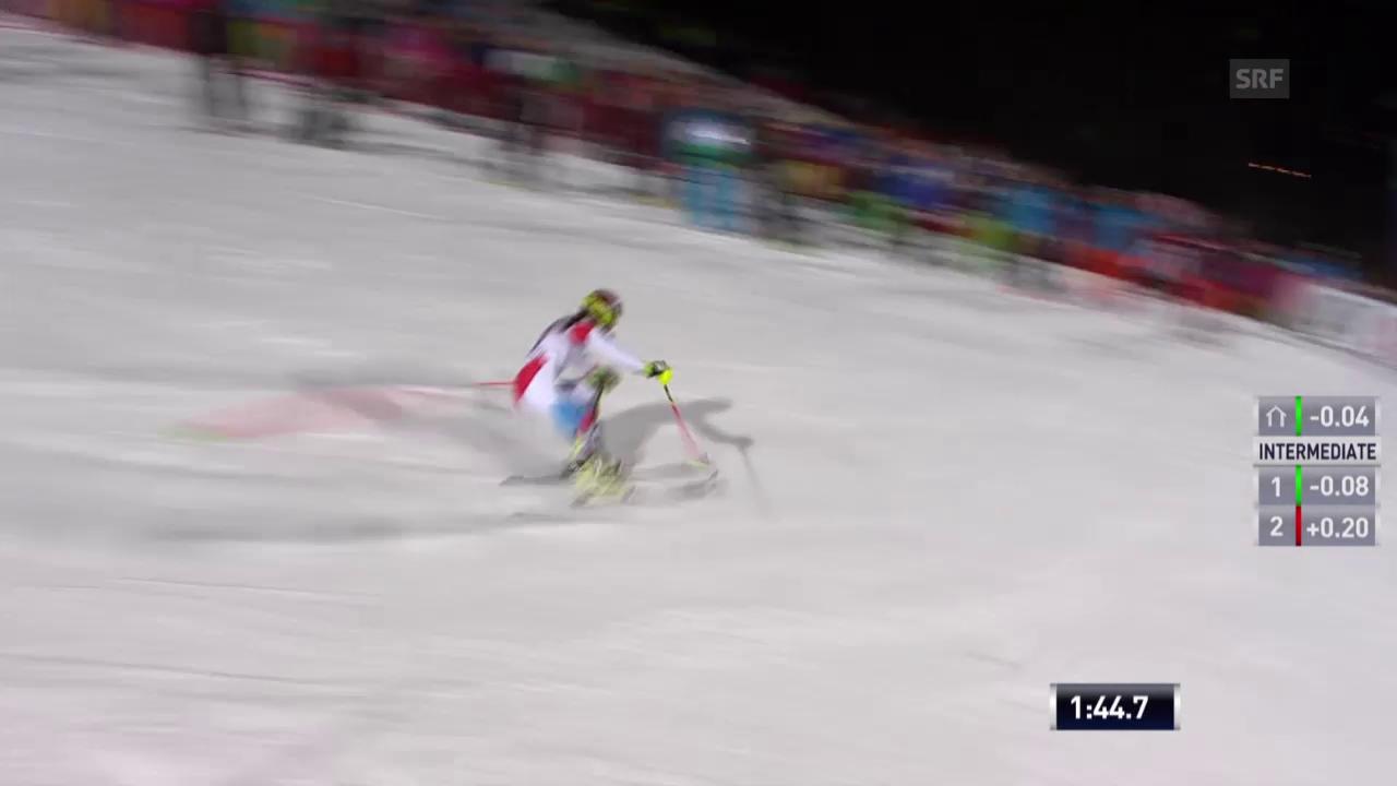 Ski: Slalom Flachau, 2. Lauf Holdener