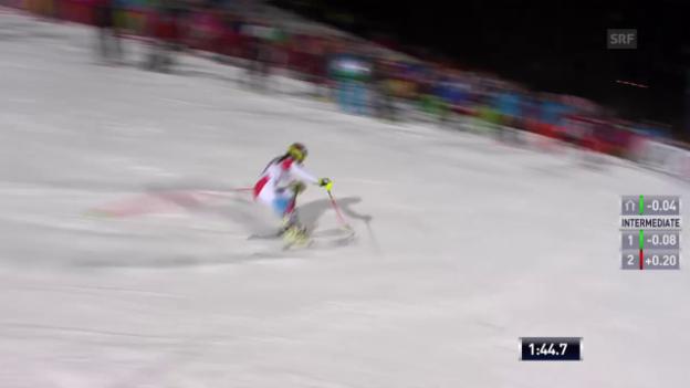 Video «Ski: Slalom Flachau, 2. Lauf Holdener» abspielen