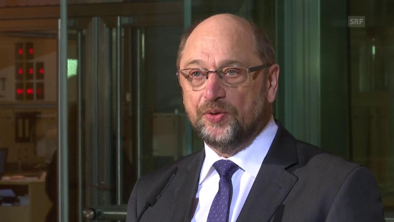 Schulz gibt Rücktritt bekannt (unkomm.)