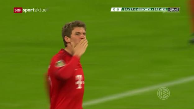 Video «Bayern zieht ins Endspiel des DFB-Pokals ein» abspielen