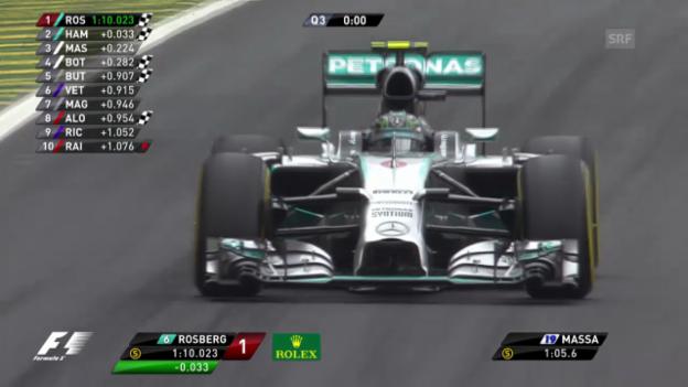 Video «Formel 1: GP Brasilien, Qualifying» abspielen