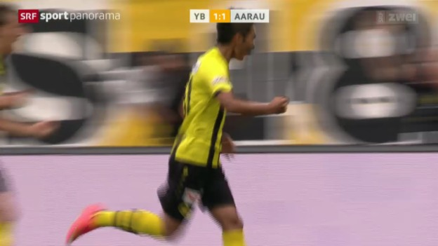 Video «Fussball: Super League, YB - Aarau» abspielen