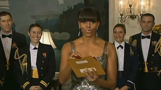 Video «Michelle Obama bei den Oscars 2013» abspielen