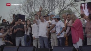 Video «Wegweisende Wahlen in Kolumbien» abspielen