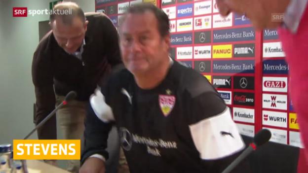 Video «Fussball: Huub Stevens zurück in Stuttgart» abspielen
