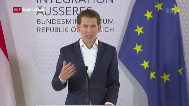 Video «Österreichischer Aussenminister fordert vorgezogene Neuwahlen» abspielen