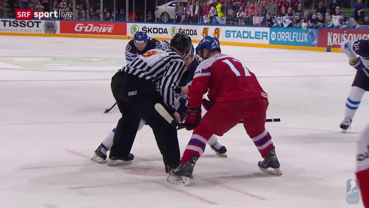 Eishockey: WM-Viertelfinal, Tschechien - Finnland: Die Live-Highlights