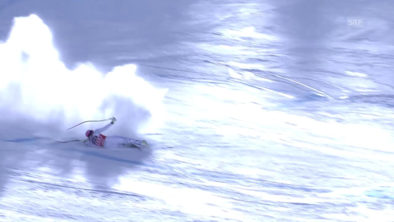 Lindsey Vonn stürzt auf der Abfahrt in La Thuile