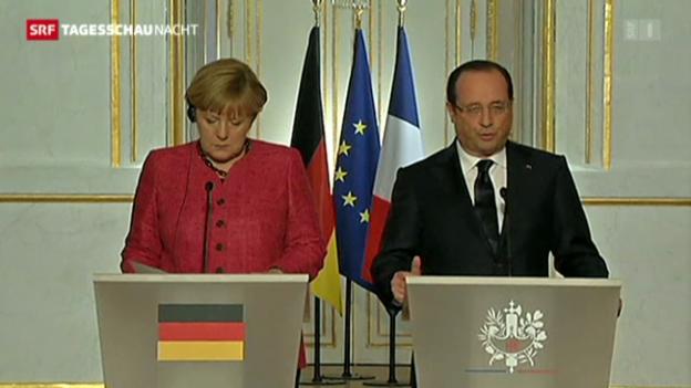 Video «Merkel trifft Hollande» abspielen