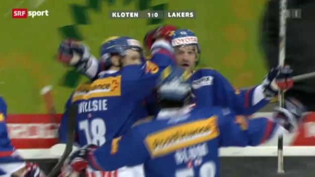 Video «Eishockey: Kloten-Lakers» abspielen