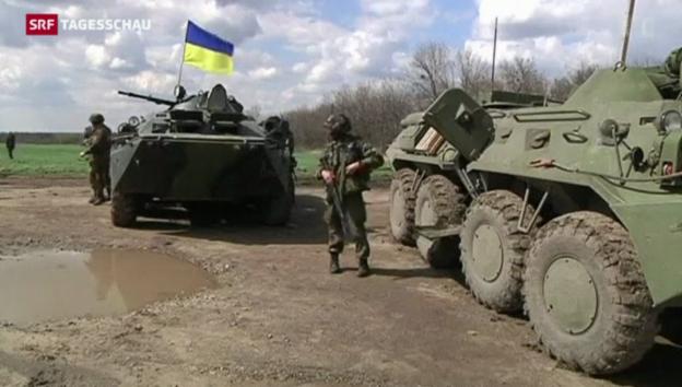 Video «Ukrainische «Anti-Terror-Einheit» gegen Separatisten» abspielen