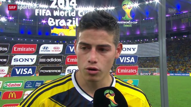 Video «FIFA WM 2014: Interview mit Kolumbiens James Rodriguez» abspielen