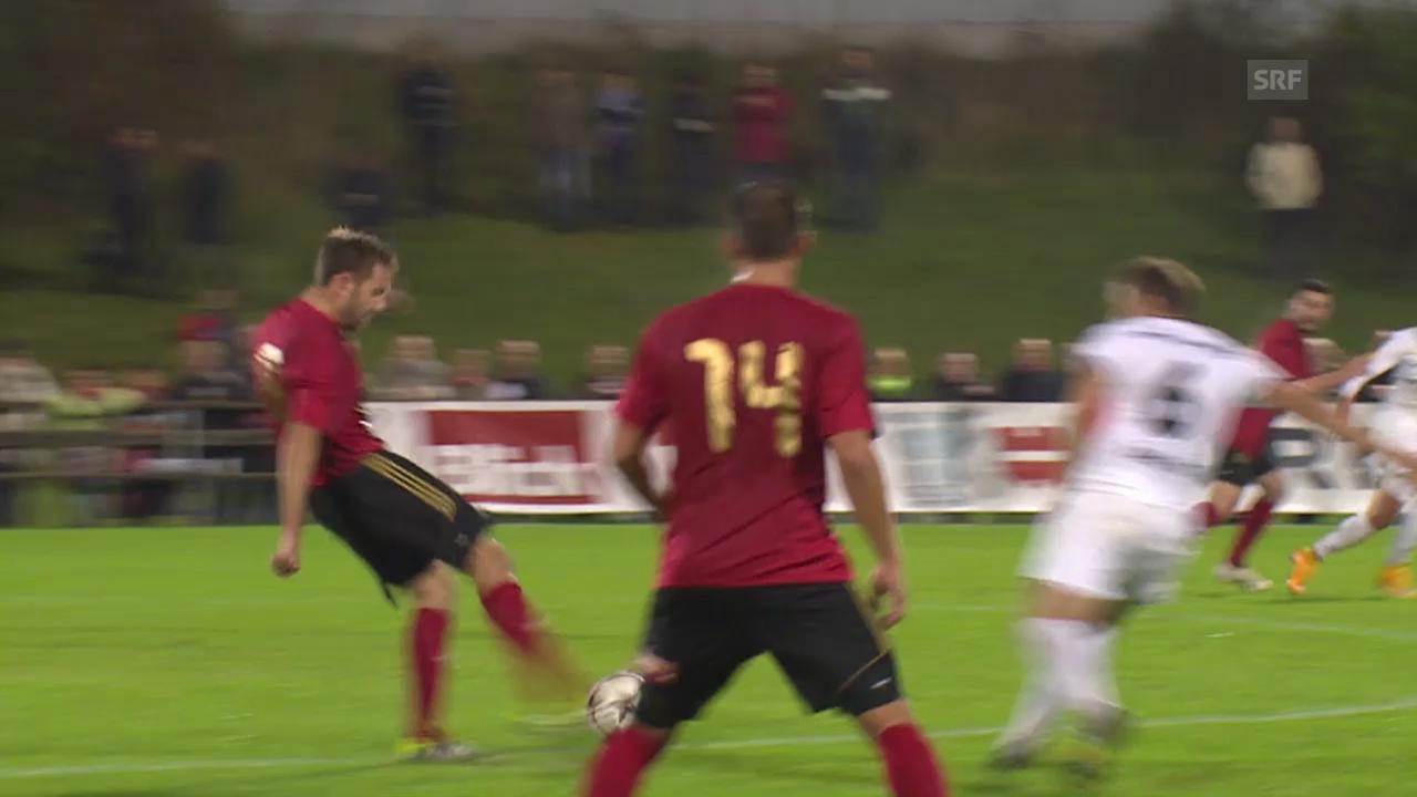 Fussball: Schweizer Cup, Achtelfinals, Silvan Aegerter Traumtor Münsingen - Wil