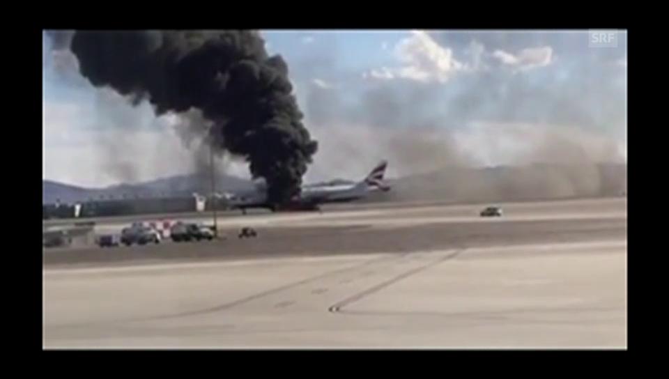 Brennende Boeing 777 in Las Vegas (unkomm.)