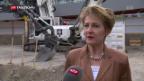 Video «Sommaruga schaut besorgt auf Europa» abspielen