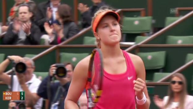 Video «Tennis: French Open, Bouchard - Kerber: Der Matchball» abspielen