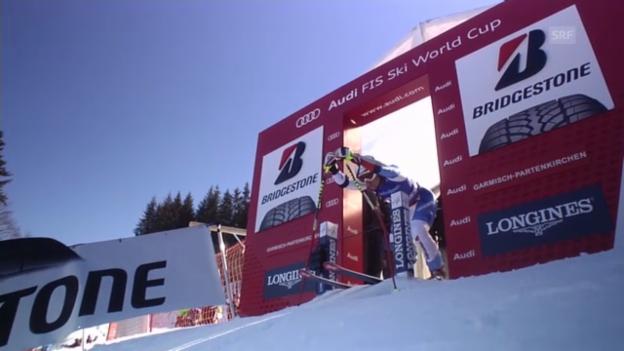 Video «Ski: Die Super-G-Fahrt von Fabienne Suter» abspielen