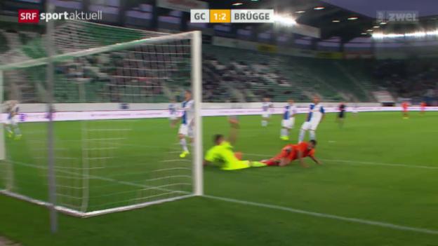 Video «Fussball: EL-Playoffs, GC - Brügge» abspielen