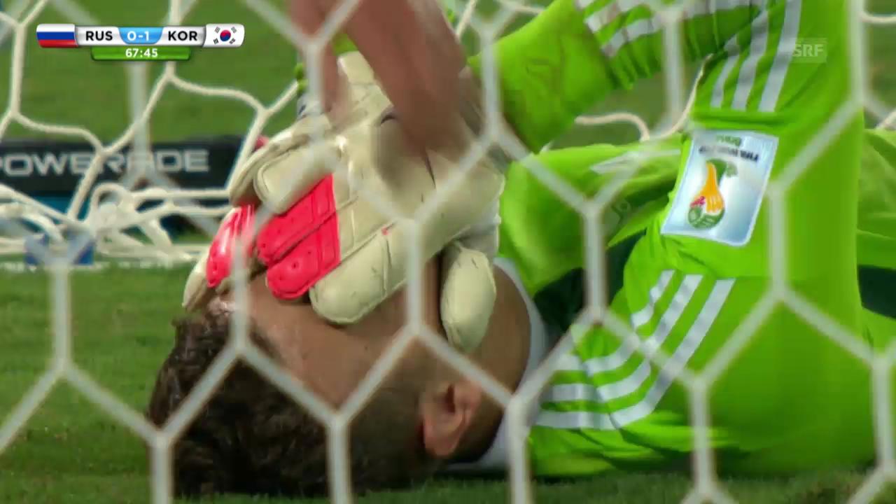 FIFA WM 2014: Igor Akinfejew patzt gegen Südkorea